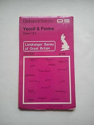 1:50 000 First Series OS Map Sheet 183 Yeovil & Frome