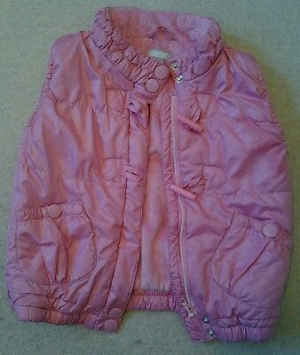 Girls pink gillet / waist coat 4 - 5 year size