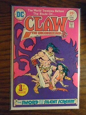 Dc Comics Claw The Unconquered #1 - June 1975 - The Sword And The Silent Scream