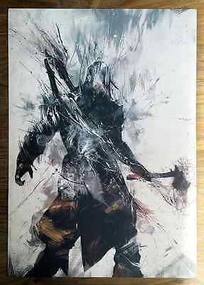 Assassin's Creed III 3 Russ Mills Limited Connor Lithograph Print RARE Ubisoft