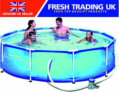 "Bestway Steel Pro Frame Swimming Pool with Filter Pump - 10ft x 30"",305cm x 76cm"
