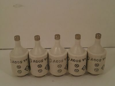 Kema Keur *set Of 5* Bottle Fuses 4Amp/ 500Volt