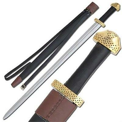 "9Th Century Viking Handcrafted 38"" Sword with Scabbard Celtic Collectible"