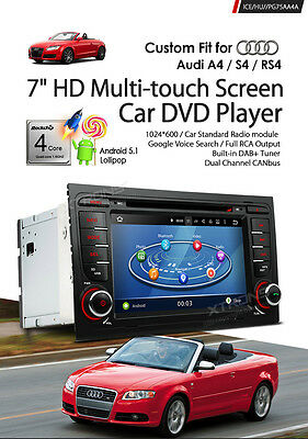 "Autoradio Gps Xtrons Audi A4 Android 5.1 7""hd Usb Sd Dvd Canbus Wi-Fi 3G Dab Mp3"