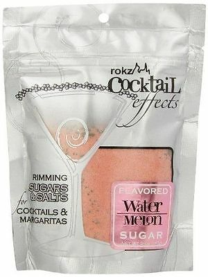 Rokz Design Group Cocktail Sugar, Watermelon, 5 Ounce