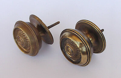 Vintage Pair Of Brass Handle/knobs