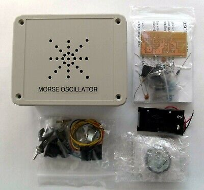 Morse - Keyed Oscillator, PCB & hardware kit. Made in Dorset UK.