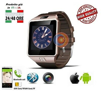 DZ09 ORO Orologio Bluetooth Smart Watch Camera SIM SD For Android IOS