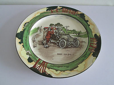 """*wow* Rare Royal Doulton 10.25"""" China Plate D2406 Motoring Car Room For One"""
