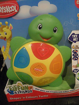 Boxed Playskool Elefun & Friends Shapes 'n Colours Turtle Toy Xmas 6 Months +