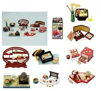 Megahouse Traditional Japanese Sweets, Full Set #1-8, Re-Ment scale miniatures