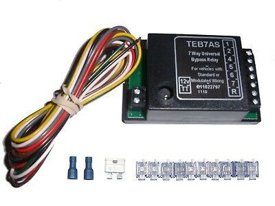 Universal 7 Way Bypass Relay Towing Electrics / Towbar for Wiring Kit