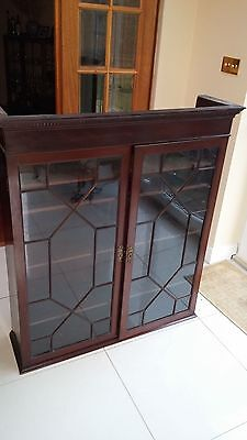 Antique Glass Display Dining Room Cabinet