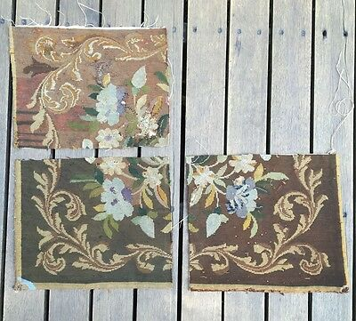 Three pieces of antique Aubusson Tapestries