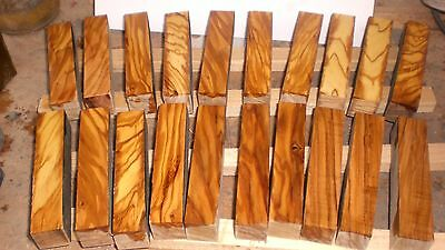 A Pack Of 20 Beautiful Highly Figured Italian Olivewood Pen Blanks140 x 24 x 24