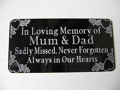 Personalised  Engraved Bench Memorial Plaque Plate Sign- Stick On 85x44mm