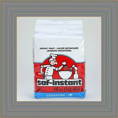 Lesaffre Saf-Instant Yeast 16 oz / 1 lb. - Bread Baking Bakers Rise Dough KOSHER