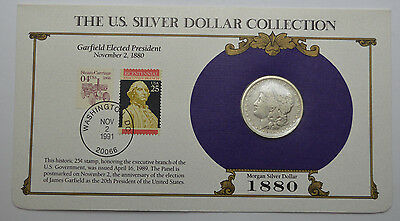 1880-P Morgan Dollar Silver Coin  & STAMPS ,THE US SILVER DOLLAR COLLECTION!