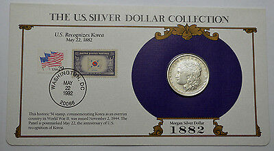 1882-P Morgan Silver Dollar KEY DATE  & STAMPS ,THE US SILVER DOLLAR COLLECTION!