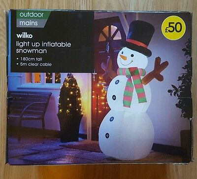 Light up inflatable snowman