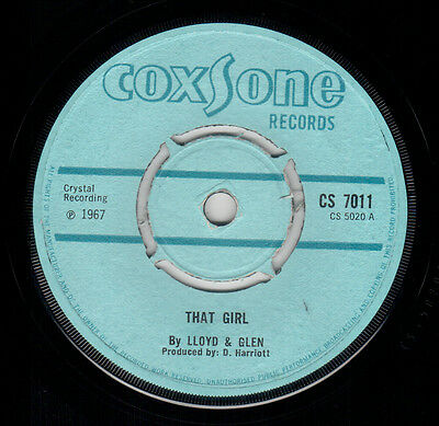 Lloyd & Glen - That Girl / You Got Me Going - Coxsone