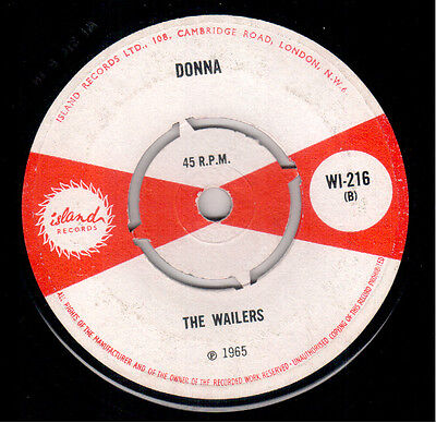 Wailers - Donna / Don't Ever Leave Me - Island