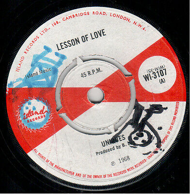 Uniques - Lesson Of Love / Delroy Wilson - Till I Die - Island