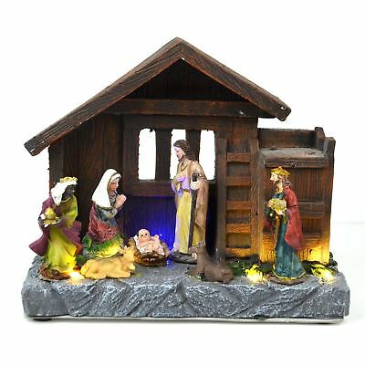 Christmas LED Home Nativity Set Musical xmas Home Decoration with Lights & Music
