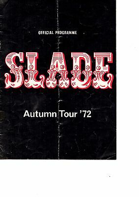 Slade Autumn Tour '72 - Official Programme ( Support Group Thin Lizzy) 1972 RARE