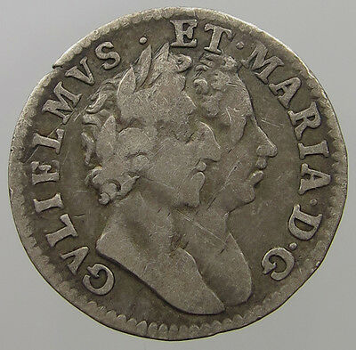 Great Britain 4 Pence 1689   #t7 349