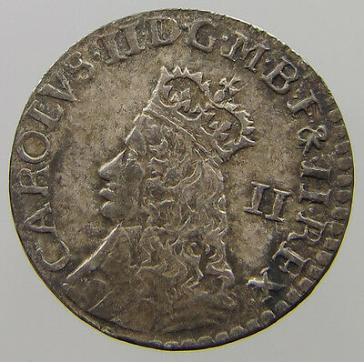Great Britain 2 Pence Charles Ii London  Top  #t7 463