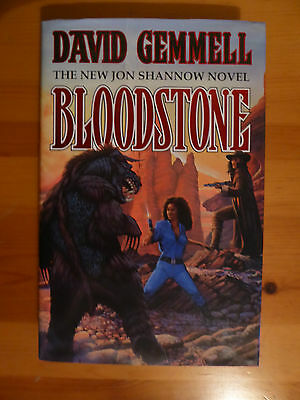 David Gemmell First Edition 1st print  Bloodstone  Signed