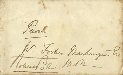 Robert Peel ' British Prime Minister ' Hand Signed Free Front.