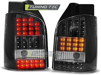 New Set Rear Tail Lights Rht Ldvw42 Vw T5 04.2003-2009 Black Led