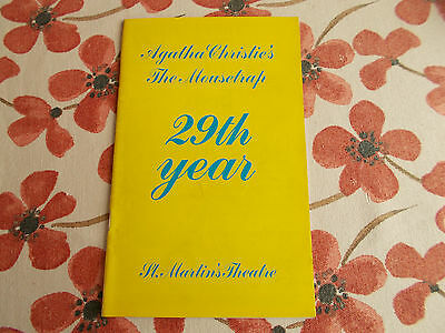Agatha Christie's The Mousetrap 29Th Year Programme