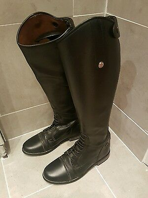 Black Leather Mark Todd Boots Size 5