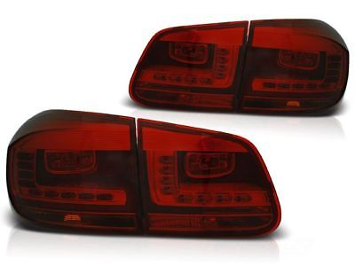 New Set Rear Tail Lights Rht Ldvwd3 Vw Tiguan 07.2011-12.2015 Red Smoke Led
