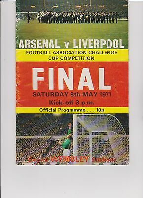 FA Challenge Cup Final Arsenal v Liverpool Wembley Stadium 1971
