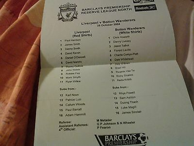 liverpool v bolton 04.05 reserves barclays lge