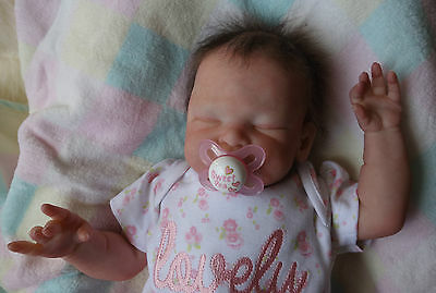 Beautiful Reborn baby girl Zoe from a LE Leelou kit by Cassie Brace