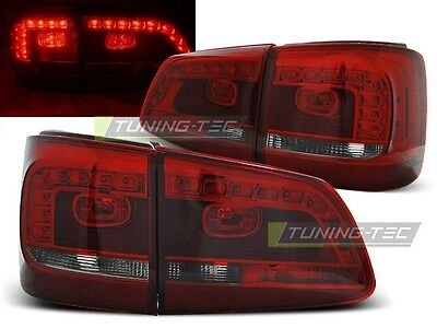 New Set Rear Tail Lights Rht Ldvwb0 Vw Touran 08.2010- Red Smoke Led
