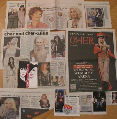 CHER UK clippings / cuttings