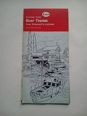 Vintage 1960 Esso Cruising Guide River Thames from Richmond to Lechlade