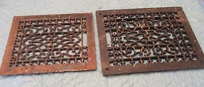 """2"" Antique---Vintage Cast Iron Floor Grates---"