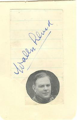 WALLY LLOYD 1930/40's  WEMBLEY, BELLE VUE etc HAND SIGNED ALBUM PAGE