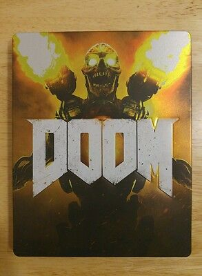 Doom Uac Edition Steelbook Case Only (No Game) Excellent Condition, Ps4 Xbox One