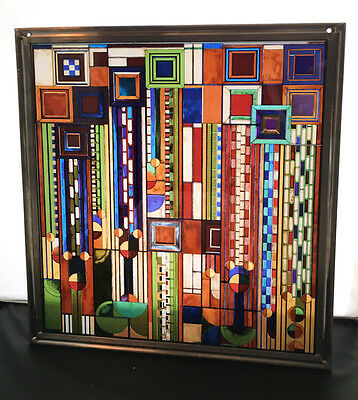 Vintage Frank Lloyd Wright Stained Glass - Gorgeous Piece - Liberty - Deco