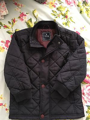 Next Navy Quilted Coat 3-4 Years