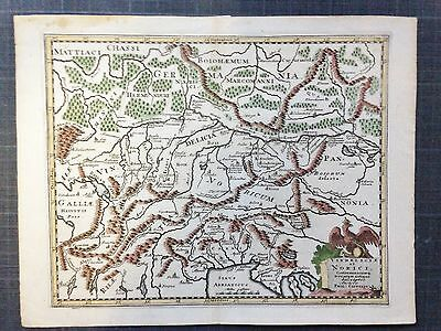 SLOVENIA CROATIA 1697 by CLUVERIUS XVIIe CENTURY ANTIQUE COPPER ENGRAVED MAP