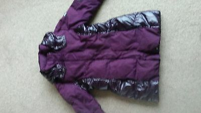 girls down winter coat, hooded, size 140cm, 10-11 years, Spirit. Was £79.